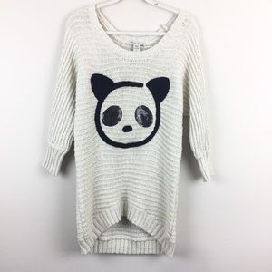 American Rag Chunky Knit Panda Print Sweater